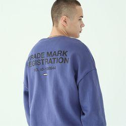 레지스트레이션 맨투맨 티셔츠-다크블루