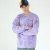 물나염 배이직 로고 맨투맨 티셔츠-퍼플