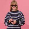 하이틴 컬러믹스 스웨터 딥퍼플