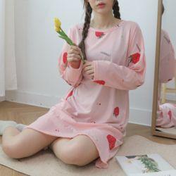 푸디 원피스 핑크 잠옷 수면 파자마 홈웨어 세트 이지