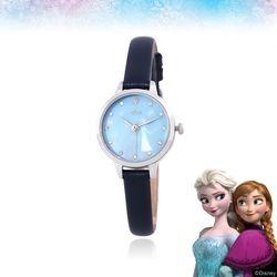 [클루X디즈니] 겨울왕국 엘사 네이비 가죽 시계 CL2G19B14LWL