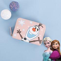 [클루X디즈니] 겨울왕국 올라프 핑크 지퍼형 지갑 CLAB19B51SPP