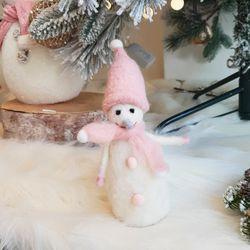피노키오 눈사람인형 핑크