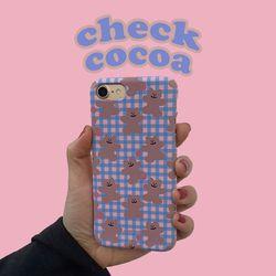 [뮤즈무드] check cocoa 아이폰케이스