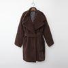 Teddy Bear Wrap Coat - 누빔안감