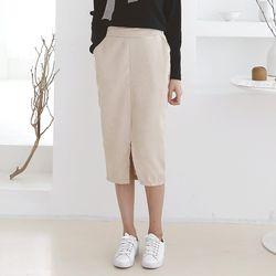New Corduroy Slit Skirt
