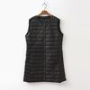 New Round Puffer Long Vest - 경량