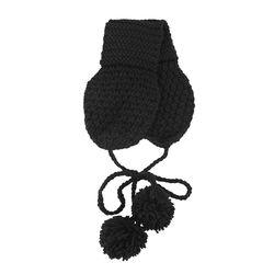 러블리 뜨개 니트 귀도리 블랙(AGER9C03TABB)