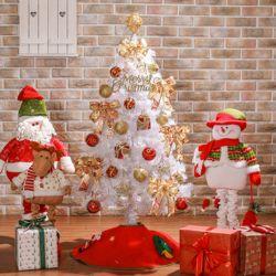 120cm 비즈볼 화이트 풀세트 트리  크리스마스