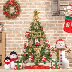 120cm 산타선물 스카치 트리 풀세트 크리스마스트리