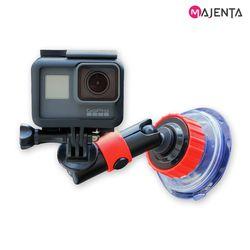 마젠타 고프로 액션캠 다이얼 흡착 마운트 락킹암