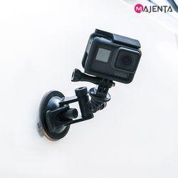 마젠타 고프로 액션캠 숏타입 흡착 마운트