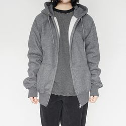 daily napping zip-up (charcoal)
