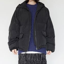 string jelly padding jumper (black)