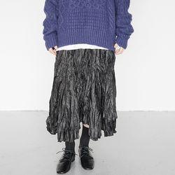 funky wrinkle skirts (black)