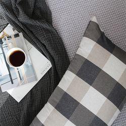 [싹쓸특가/무료배송] 직사각 바디필로우 - 브라운체크