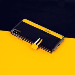 아이폰XR XS MAX 가죽 포켓 바 카드 케이스 이지포켓 H