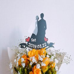 결혼 웨딩 축하 기념 케이크토퍼