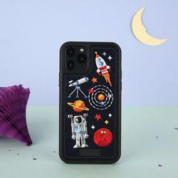 아이폰11프로맥스 프리미엄 풀자수 우주 케이스