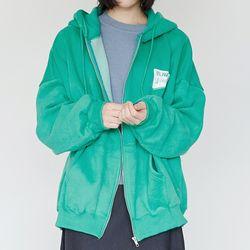 kitch detail hoodie zip-up (4colors)