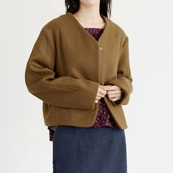 fluid one button jacket (2colors)