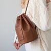 wearable cylinder bag (tan)