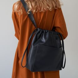 ohou bucket bag (black)