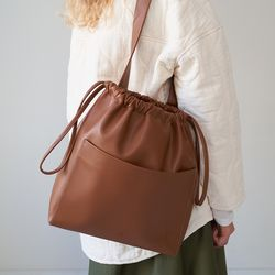 ohou bucket bag (tan)