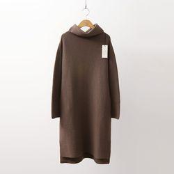 Laine Cashmere Wool Turtleneck Pocket Dress