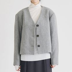 french wool v jacket (2colors)