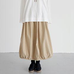 pumpkin cotton skirts (beige)