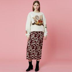 Banding Skirt [Burgundy]