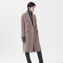 HANDMADE CHECK COAT CAMEL