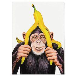 중형 패브릭 포스터 F320 아이방 동물 그림 침팬지 바나나 A