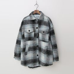 Wool Check Shirts Jumper - 패딩안감