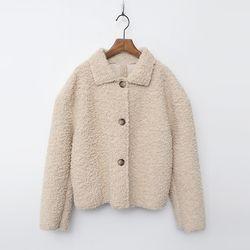 Faux Mouton Short Coat - New