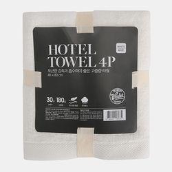 호텔타월 180G 4P 세트 (화이트)