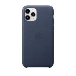 [정품]아이폰 11 Pro 가죽 케이스 - 미드나이트블루