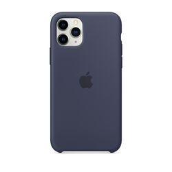 [정품]아이폰 11 Pro 실리콘 케이스 - 미드나이트블루