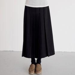 pleats wool skirts (2colors)
