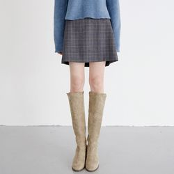 wool plaid mini skirts (2colors)