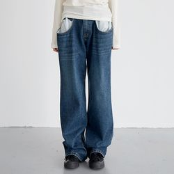 vintage duo denim pants (2colors)