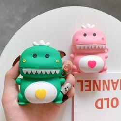 에어팟1 2세대 귀여운 아기공룡 캐릭터 실리콘 케이스