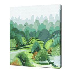 [명화그리기]3040 만봉림-바람이 부는 숲 21색 일러스트