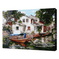 [명화그리기]4050 작은 수향마을 풍경 25색 인물화