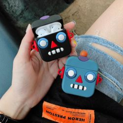 에어팟실리콘케이스 귀여운 로봇 캐릭터 1 2세대 호환