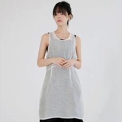 girlish midi sheer dress (ivory)