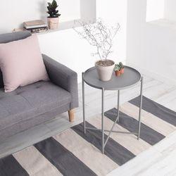 아도라하우스 그레이 테이블 사이드 협탁테이블