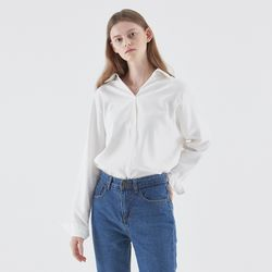LOOSE OPEN COLLAR SHIRT IVORY