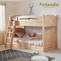 핀란디아 오로라 2층침대-서랍형